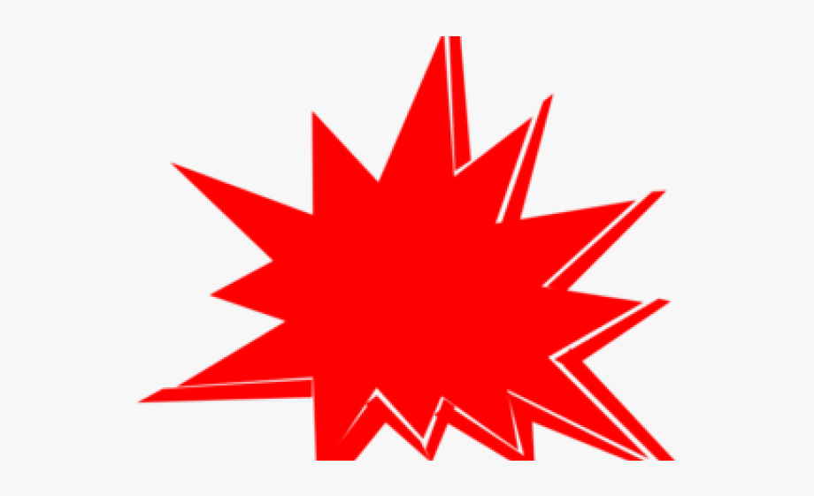 Boom Clipart Red Explosion.