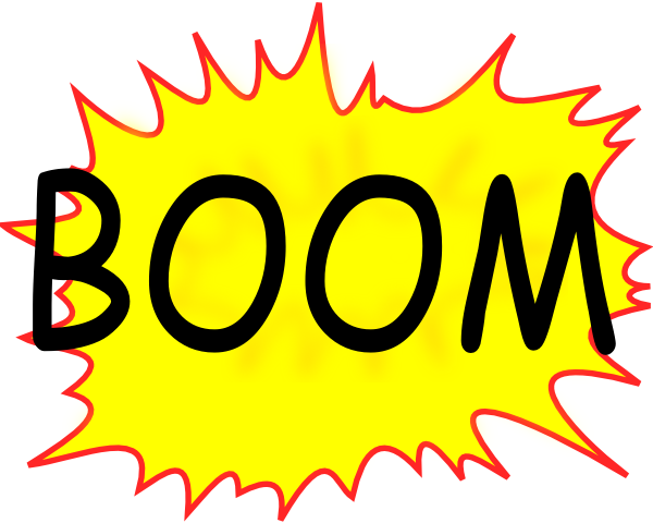 Boom Clip Art at Clker.com.
