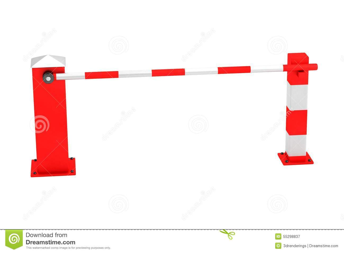 Boom Gate Stock Illustration.