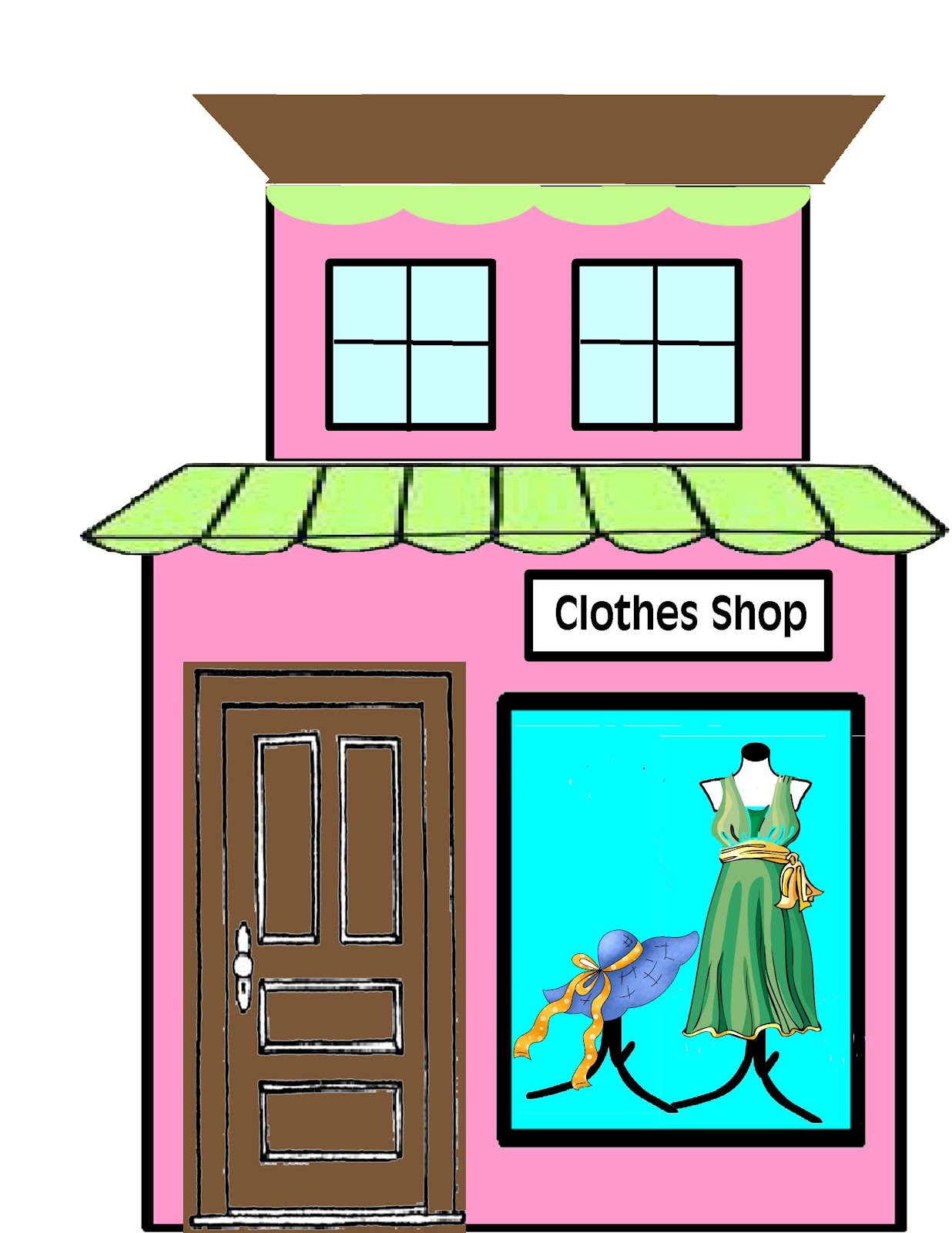 E Clothing Store Clipart.