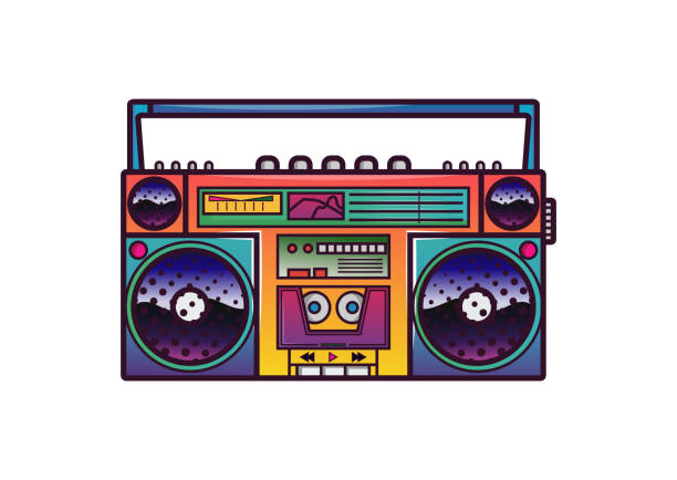 Best Boombox Illustrations, Royalty.