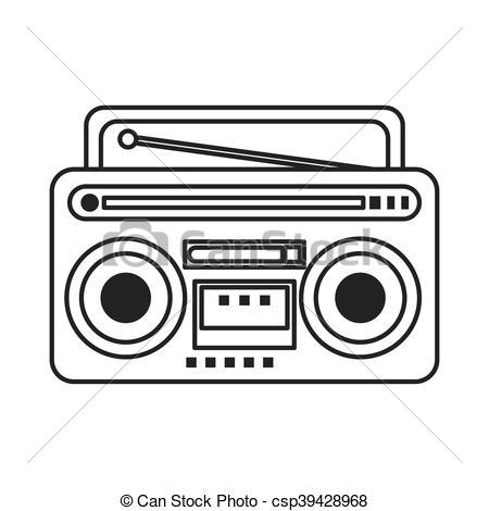 classic boombox icon.