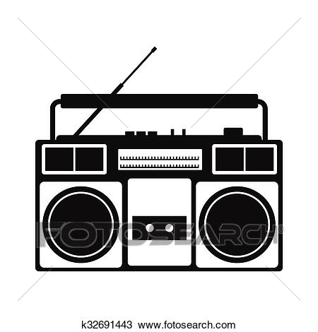 Boombox simple icon Clipart.
