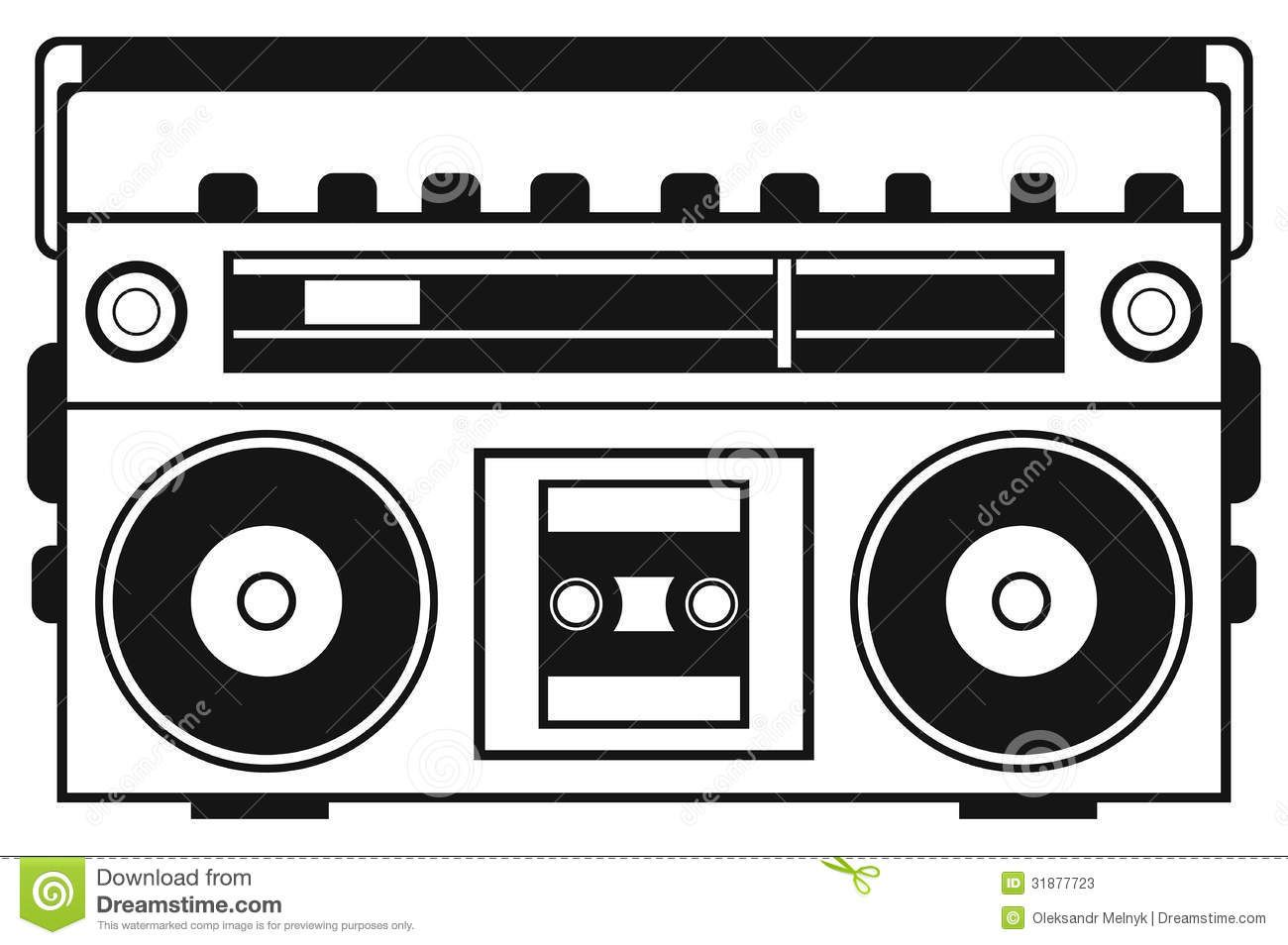 Boombox Clipart Repinlikeview Pic.