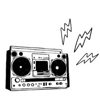 Boombox clipart - Clipground