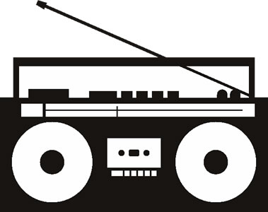 Boombox clipart free.