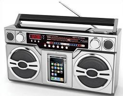 Free Boombox Clipart.