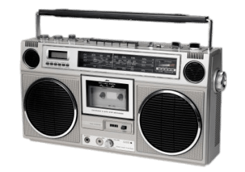 Ghettoblaster Style Boombox transparent PNG.