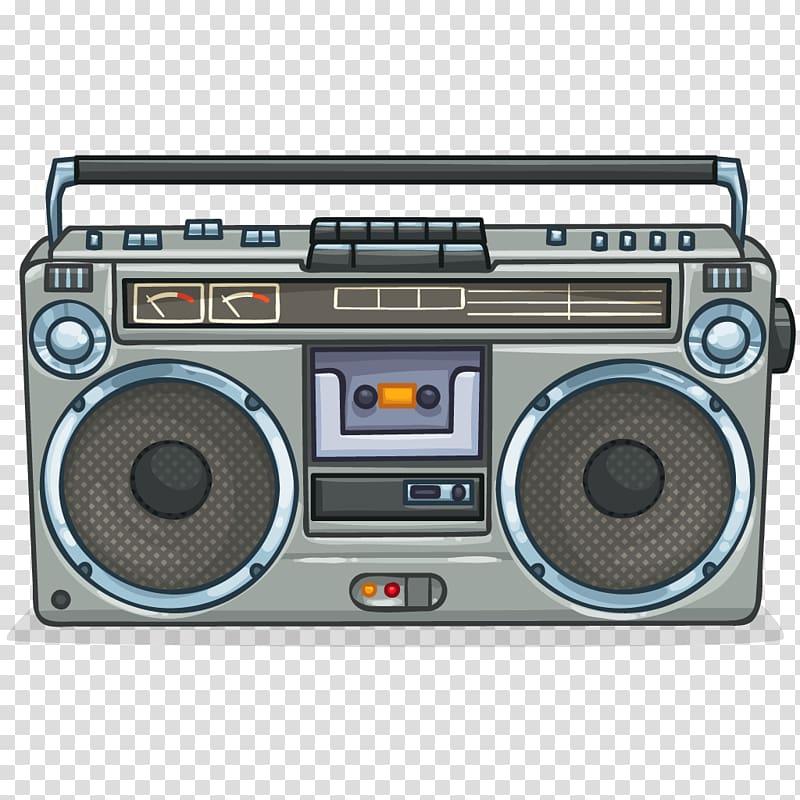 1980s Boombox Compact Cassette Panasonic , Cassette transparent.