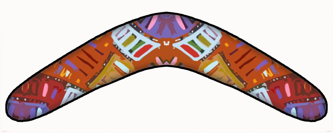 Boomerang Dot Art Clipart.