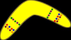 boomerang clipart yellow boomerang #md.