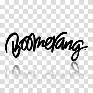 TV Channel icons , boomerang_white, Boomerang logo.