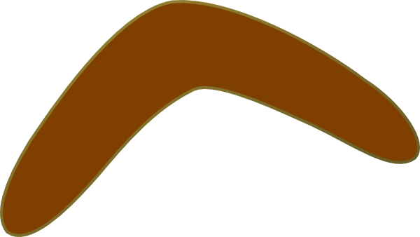 Aussie Brown Boomerang PNG, SVG Clip art for Web.