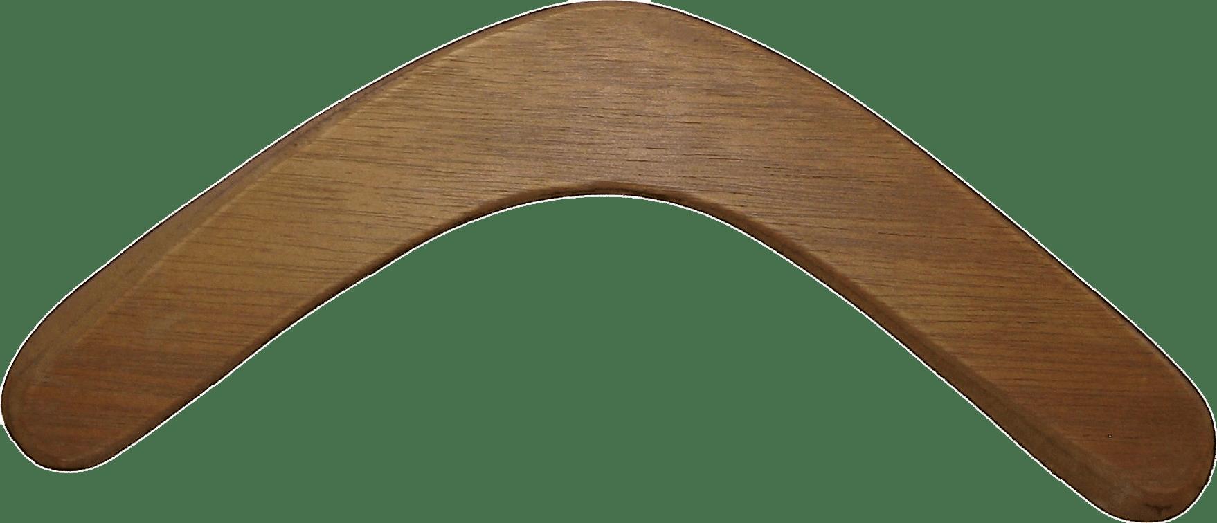 Blank Wooden Boomerang transparent PNG.