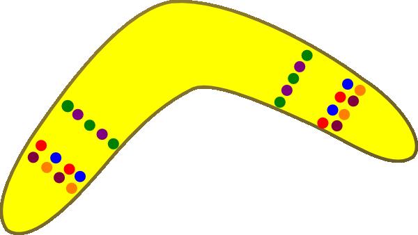 Yellow Boomerang Clip Art at Clker.com.