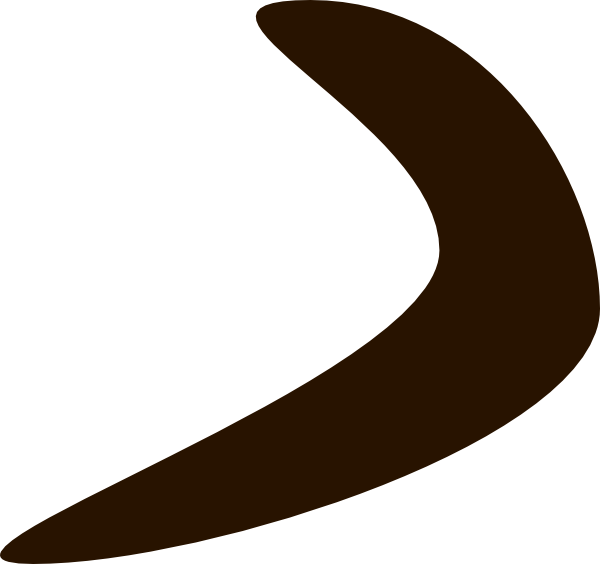 Chocolate Boomerang Clip Art at Clker.com.