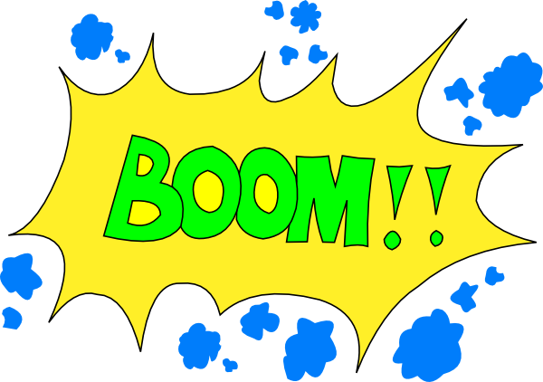 Comic Boom! Clip Art at Clker.com.