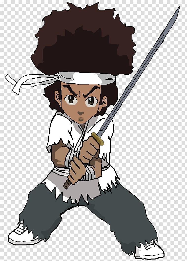 Huey Freeman Riley Freeman Samurai The Boondocks, cartoon.