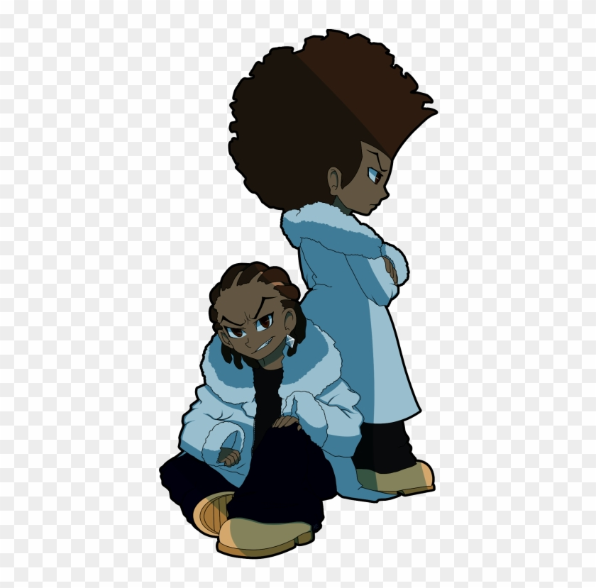 Huey And Riley Black Anime Guy, Anime Guys, The Boondocks.