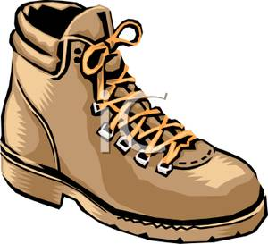 Hiking boot clip art.