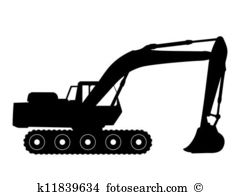 Tracked excavator Clipart EPS Images. 355 tracked excavator clip.