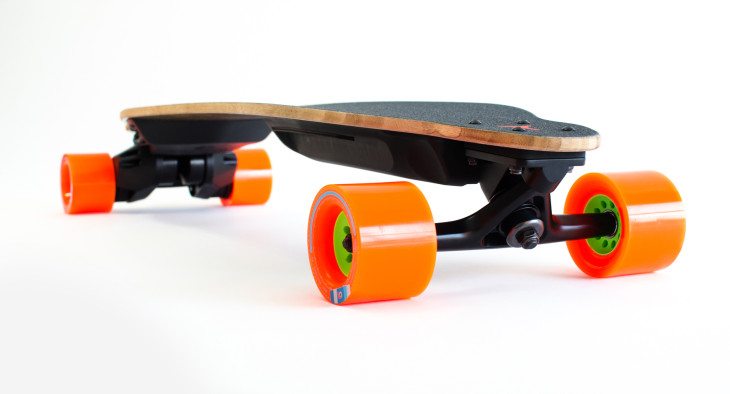 Boosted's v2 electric skateboards go 12 miles with swappable.