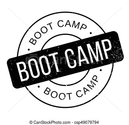 Boot Camp rubber stamp.