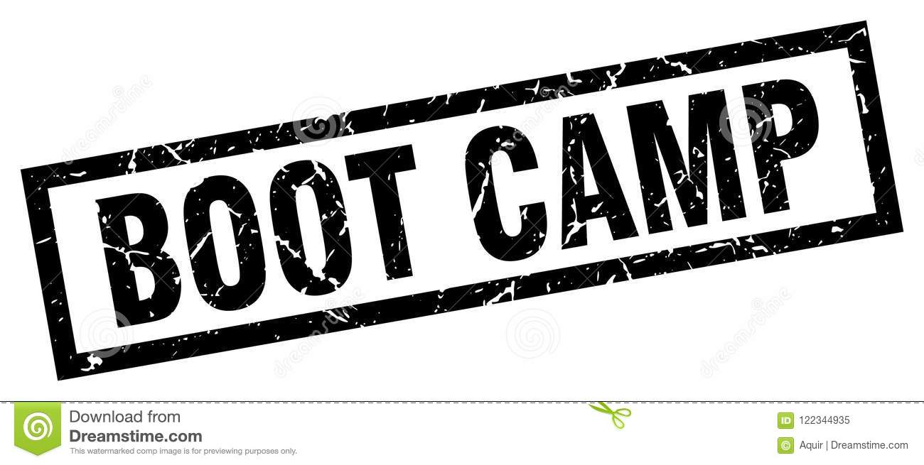 Boot camp stamp stock vector. Illustration of boot, black.