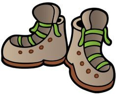 Camping hiking boots clip art.