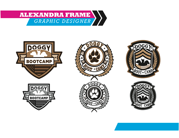 Doggy Boot Camp Logo on Behance.