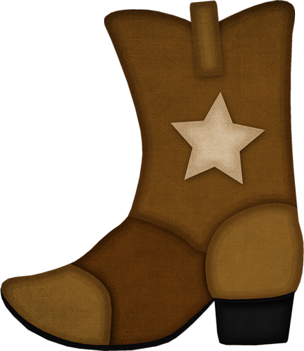 Cowboy boot brownwboy boot clipart boots.