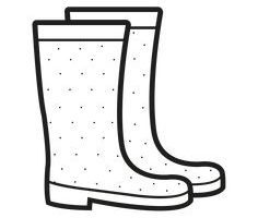 Boot clipart black and white 2 » Clipart Portal.
