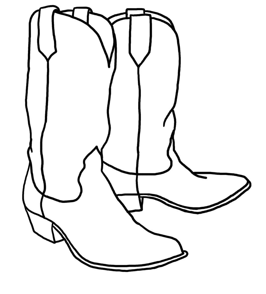 Cowboy boots clipart black and white 3 » Clipart Station.