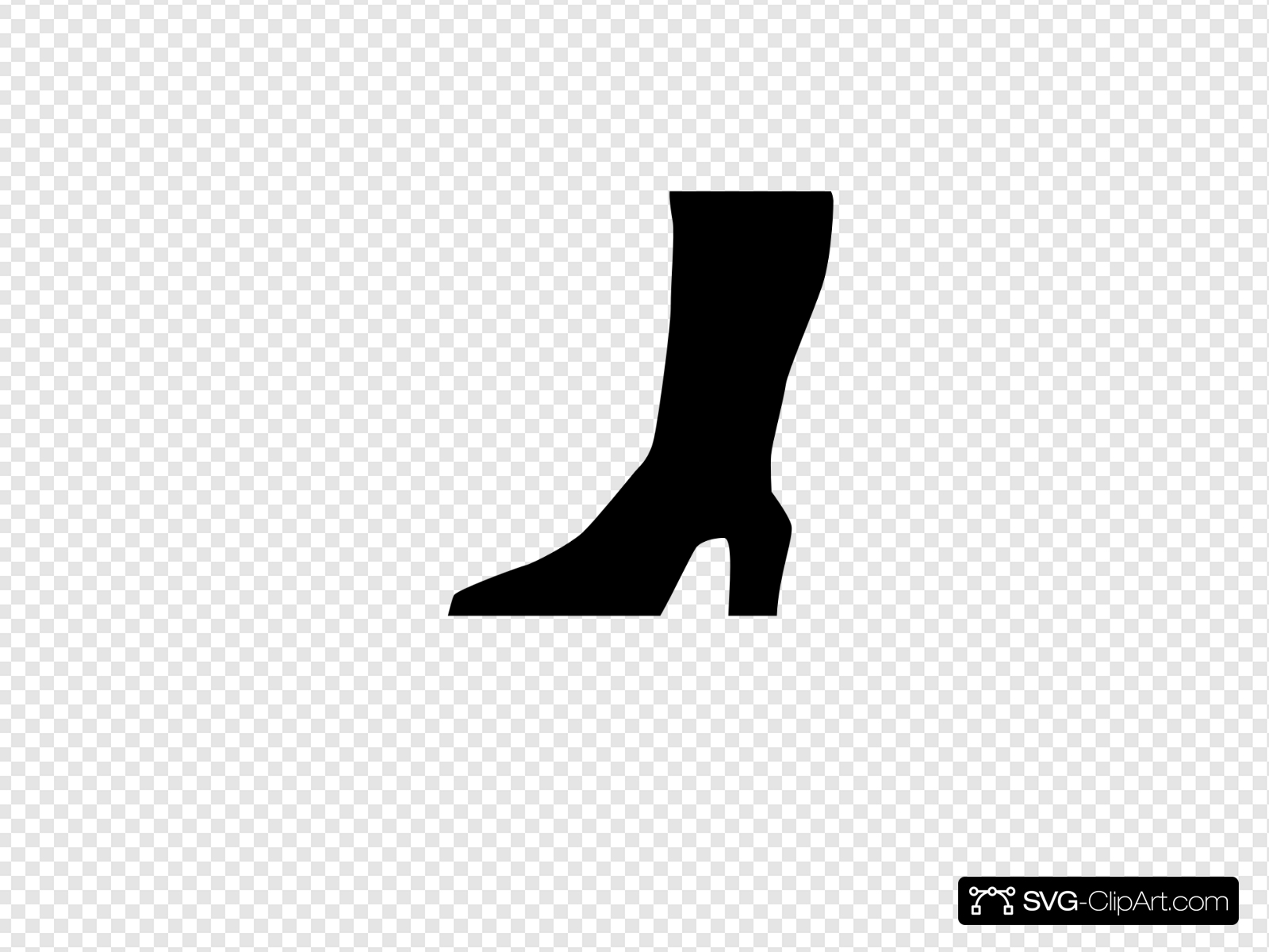 High Boot Icon Clip art, Icon and SVG.