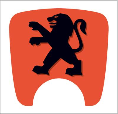 S2 Boot Lock Decal Orange With Black Lion.