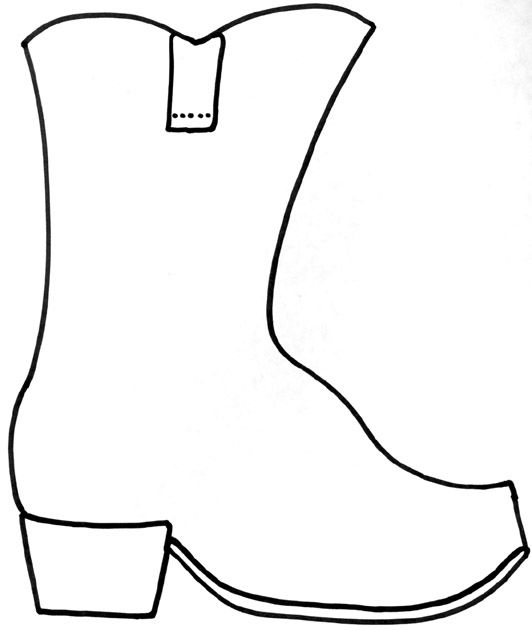 Cowboy boot outline clipart 6 » Clipart Station.