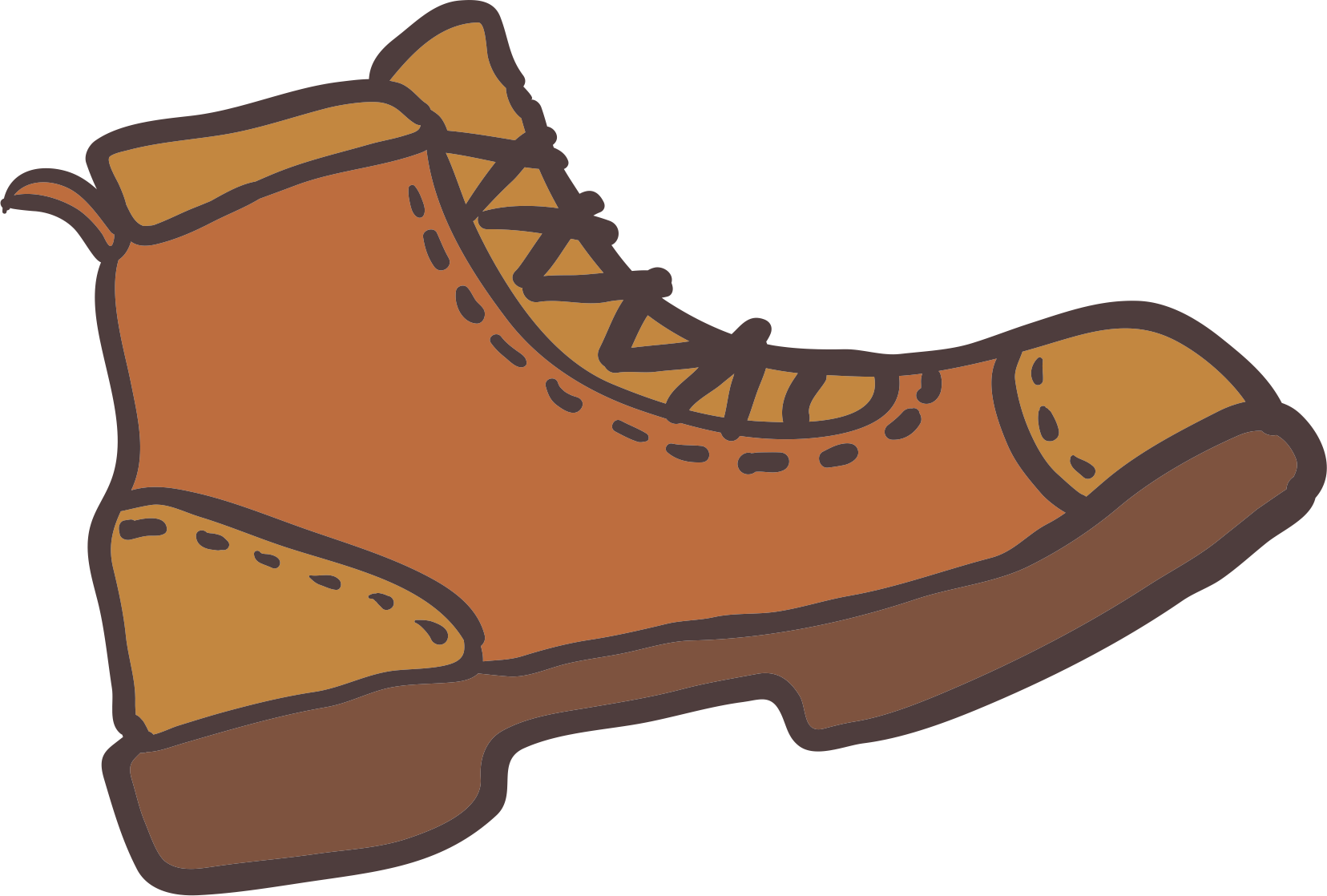 Hike clipart brown boot, Picture #1334793 hike clipart brown.