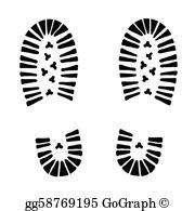 Boot Print Clip Art.