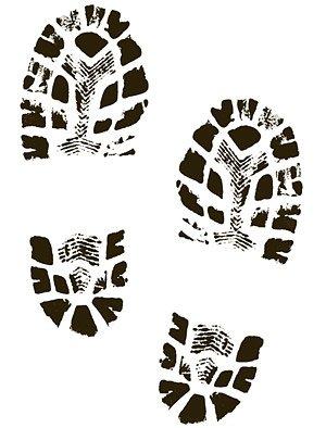 Boots shoes shoe prints Clipart Picture Free Download.