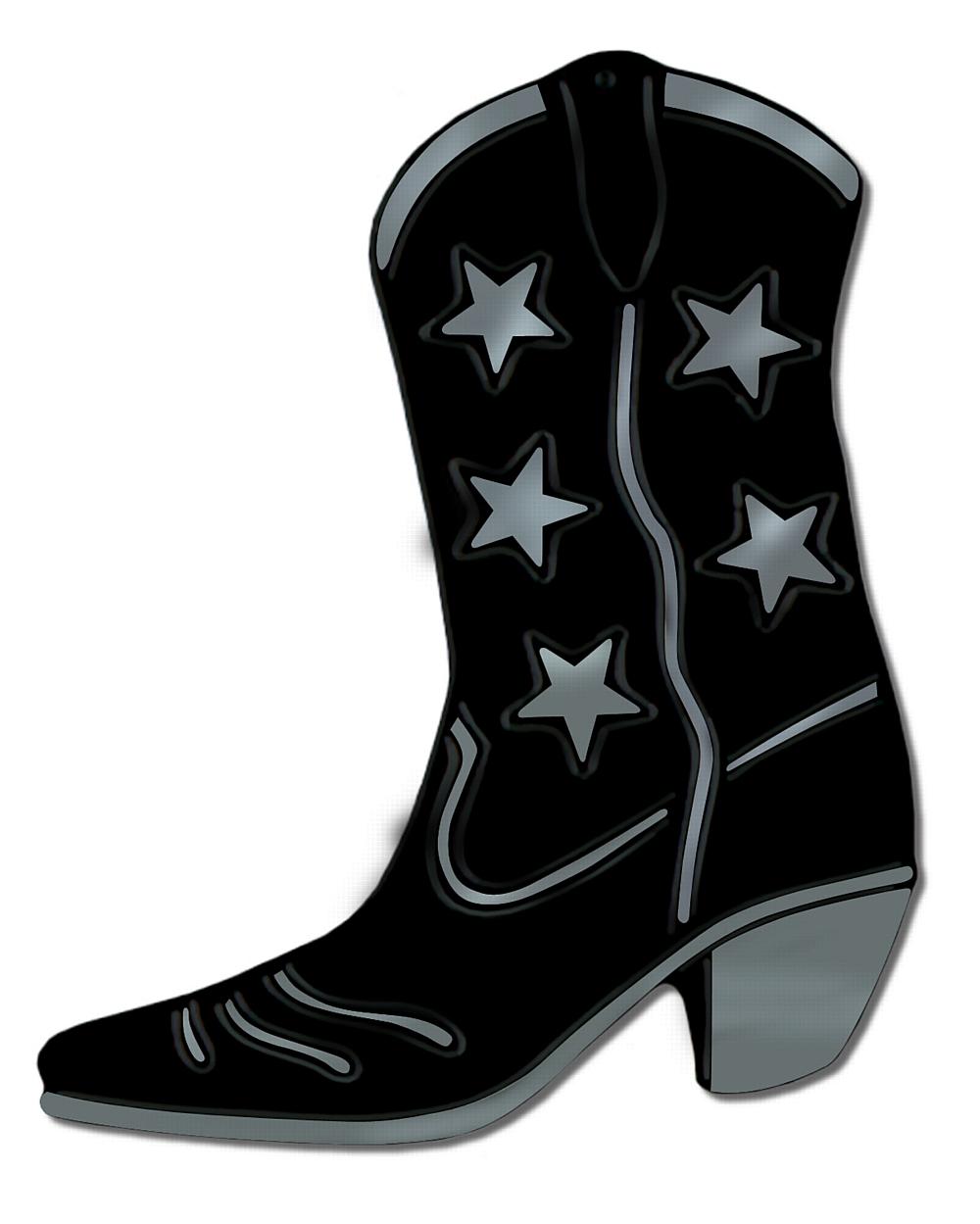 Cowboy boot boot silhouette clip art at vector clip art.