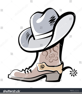 Boot With Spur Clipart.