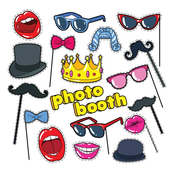 Best Photo Booth Illustrations, Royalty.
