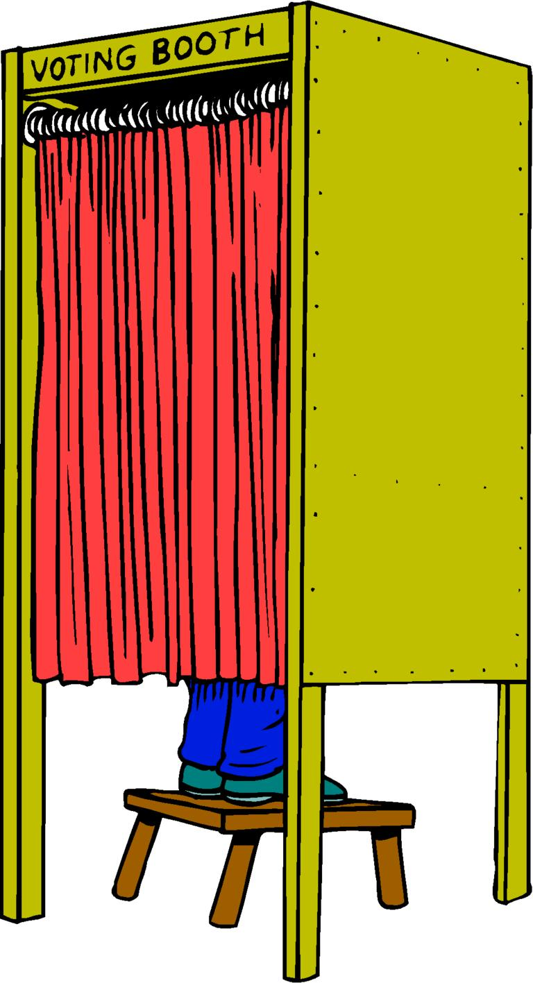 Voting Booth Clipart.
