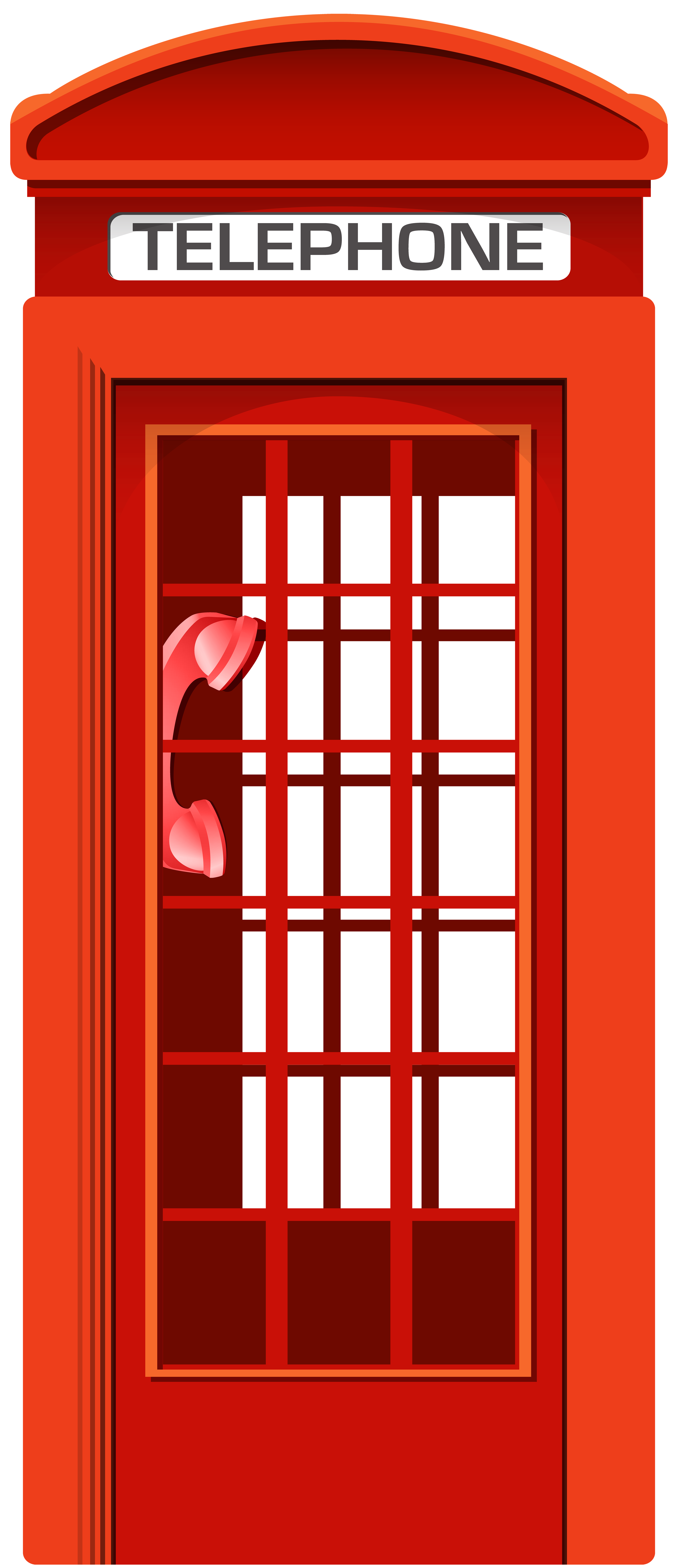 English Telephone Booth PNG Clipart.