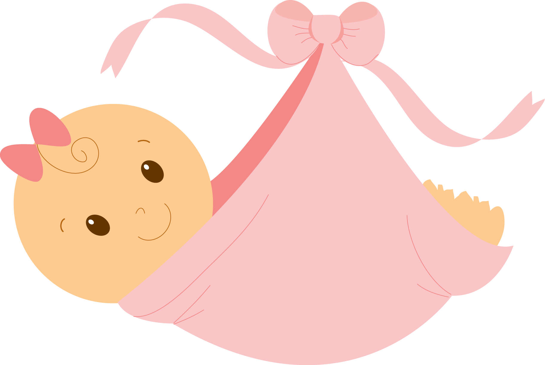 Pink Baby Booties Clipart.