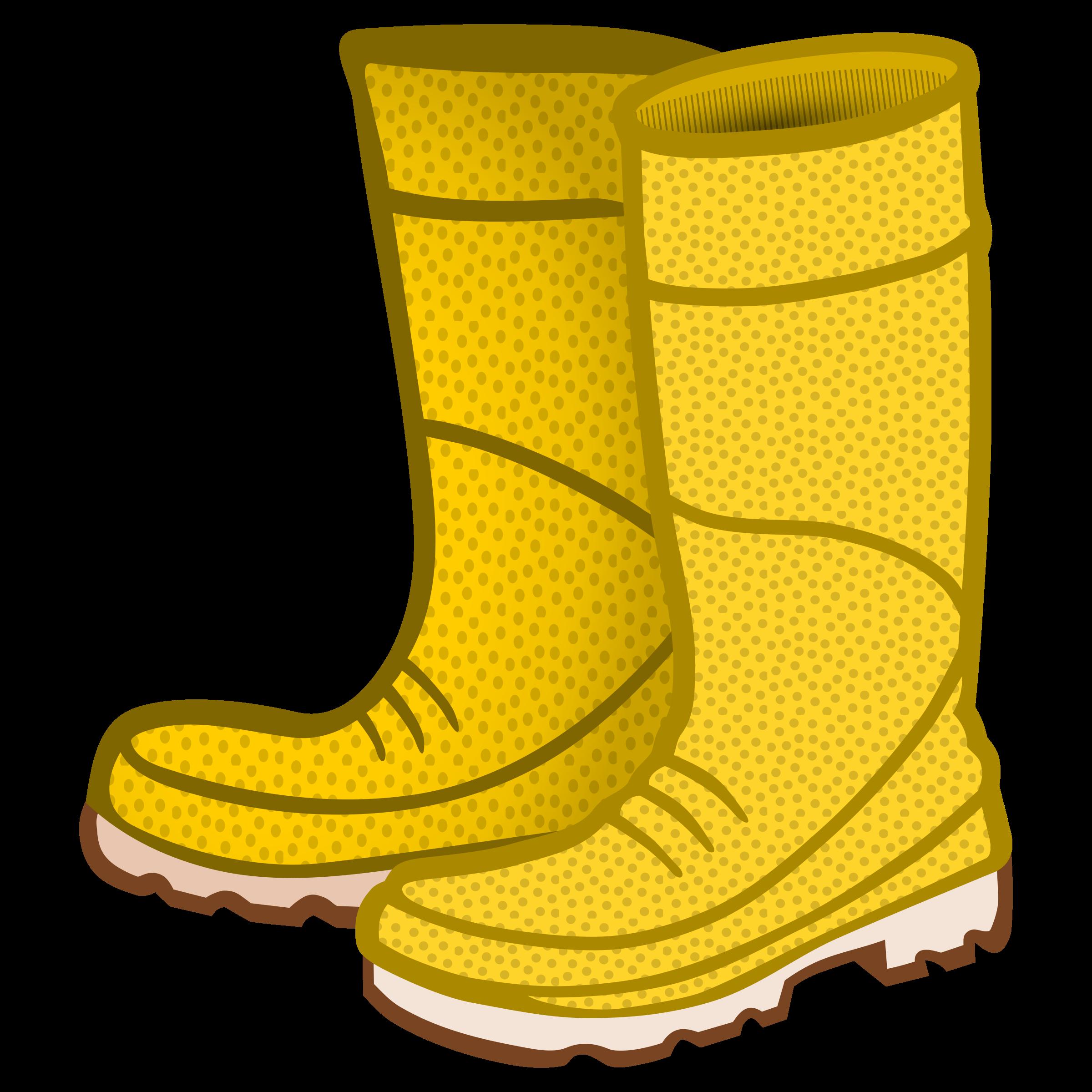 Rain boots clipart rubber boots coloured.