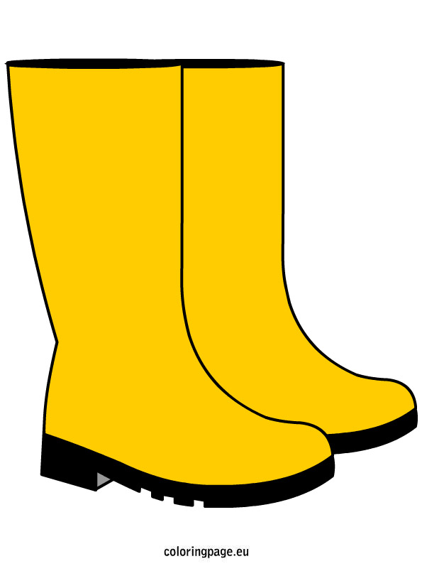 Rain boots coloring page clipart.