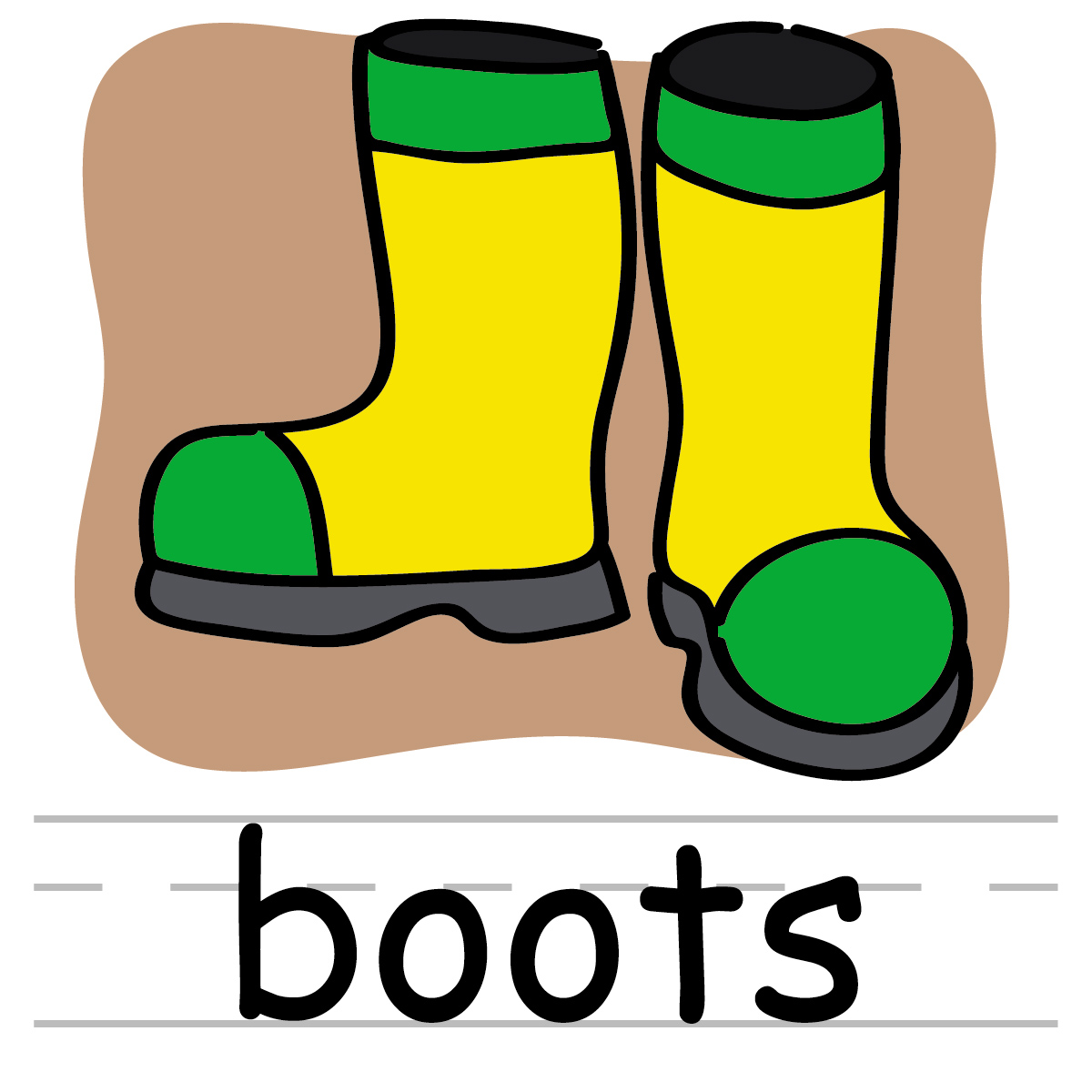 Clip Art Baby Boots Clipart.