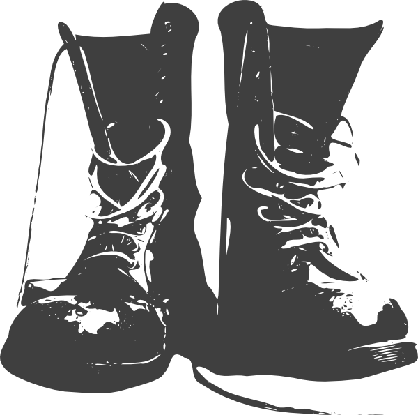 Black boot clipart.
