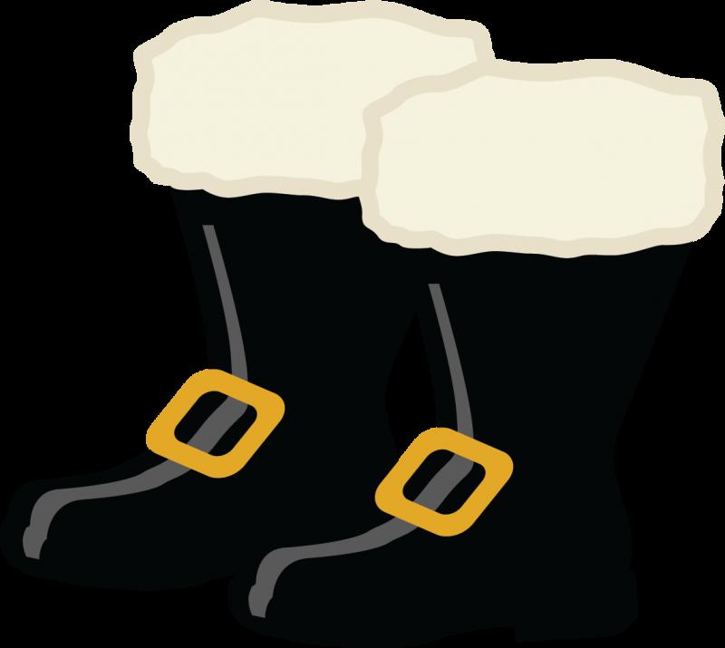 Santa Boots Clipart.